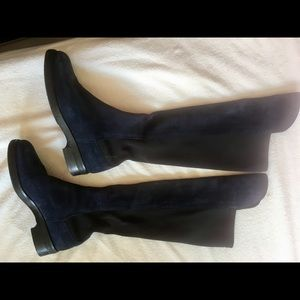 Shoes - Suede navy boots